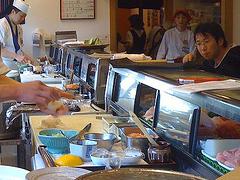 寿司店でのマナーの画像